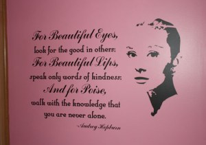 Audrey-Hepburn-quote-vinyl-wall-design